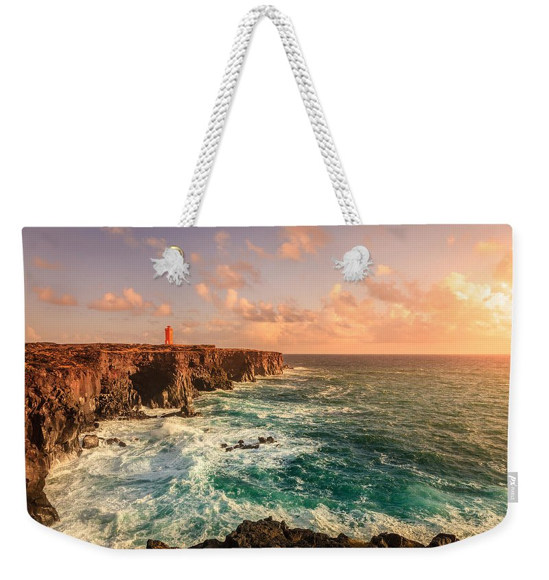 Europe Weekender Tote Bag featuring the photograph Icelandic Coast by Alexey Stiop