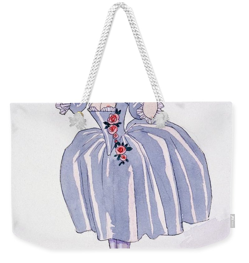 Illustration Weekender Tote Bag featuring the painting Illustration For 'fetes Galantes' by Georges Barbier