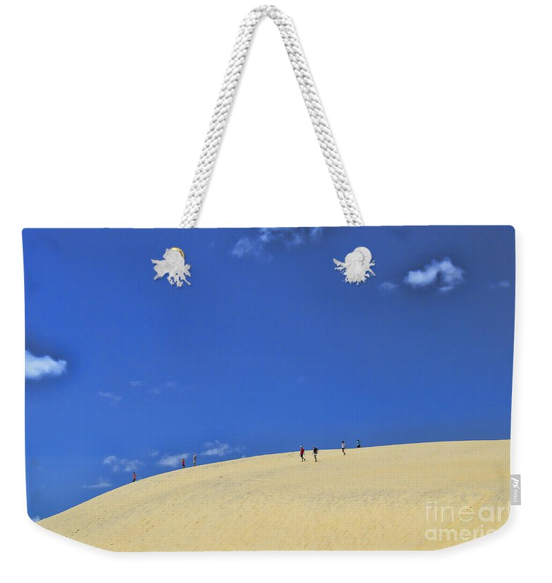 Jockey's Ridge State Park Weekender Tote Bag featuring the photograph Jockey's Ridge State Park by Allen Beatty