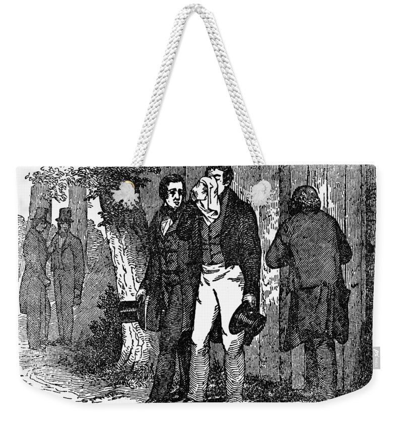 1825 Weekender Tote Bag featuring the photograph Marquis De Lafayette by Granger