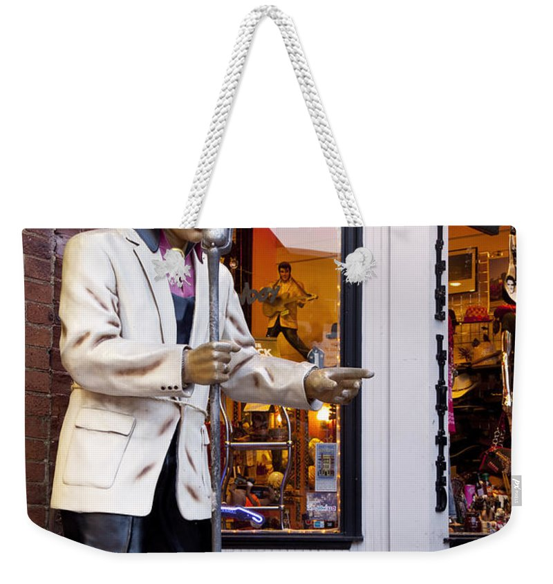 Singing Weekender Tote Bag featuring the photograph Music City Usa by Brian Jannsen