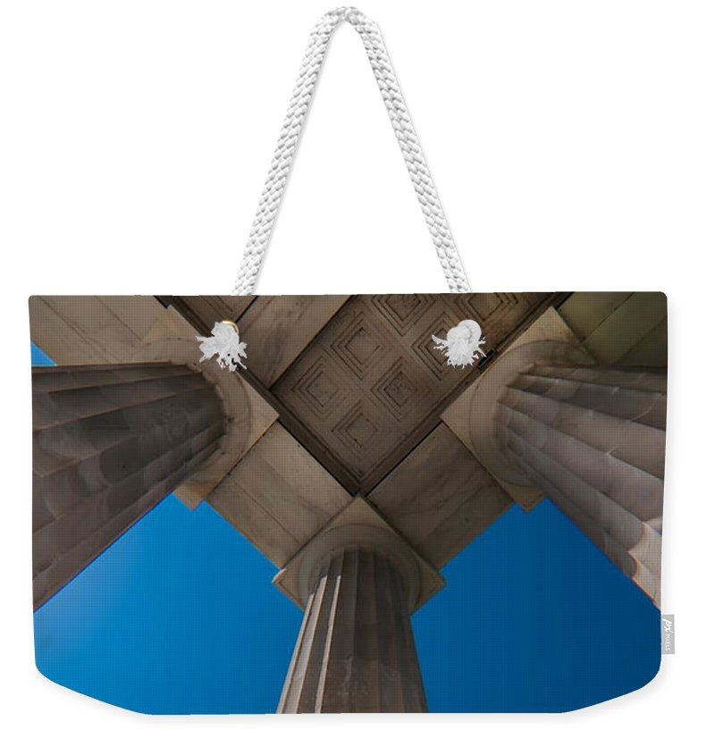 Gallery Weekender Tote Bag featuring the photograph Neoclassical Ionic Architectural Details by Alex Grichenko