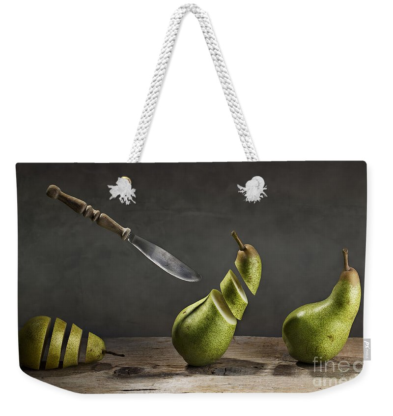 Pear Weekender Tote Bag featuring the photograph No Escape by Nailia Schwarz