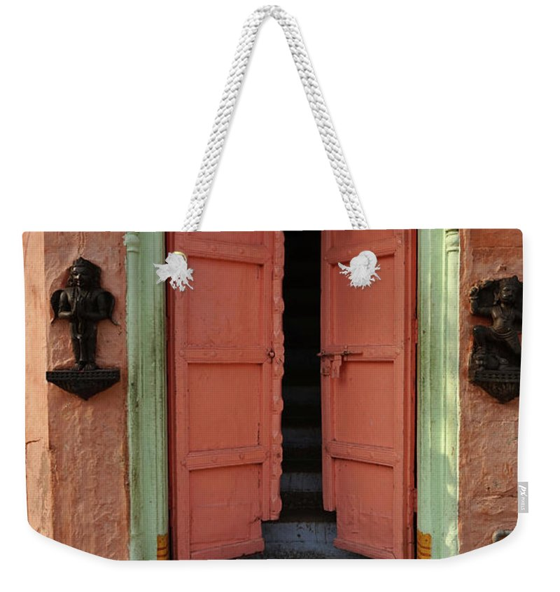 Description Weekender Tote Bag featuring the photograph Old Doors India, Varanasi by Stereostok