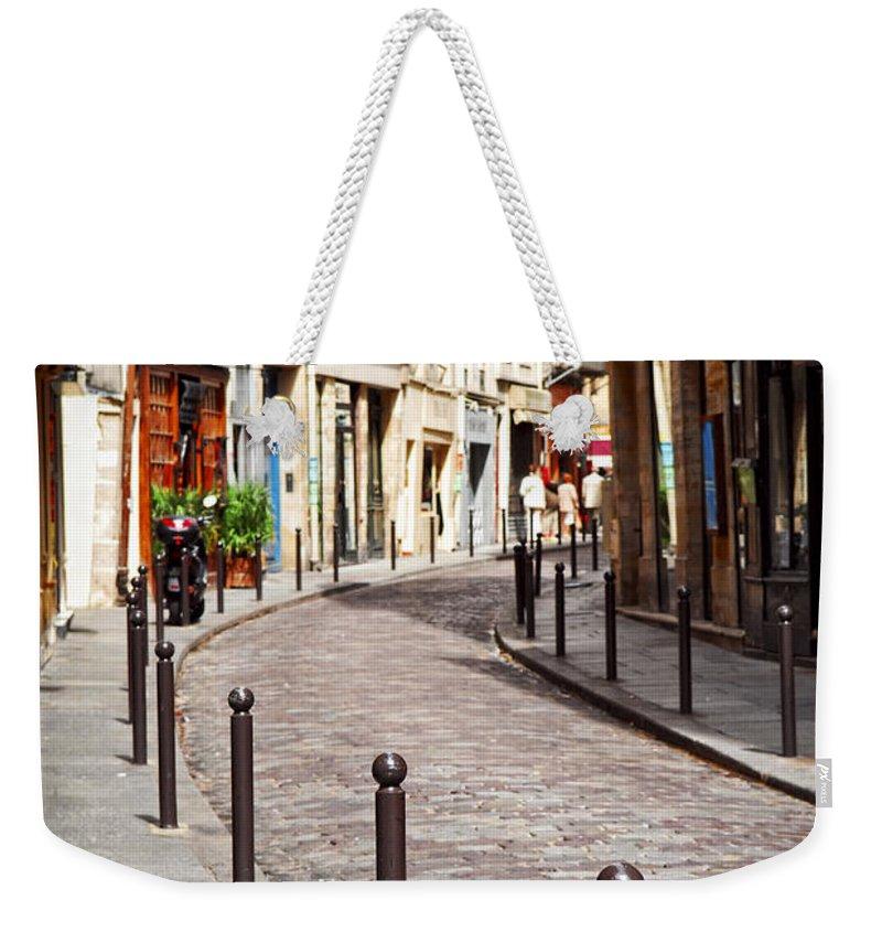 Stone Building Weekender Tote Bags