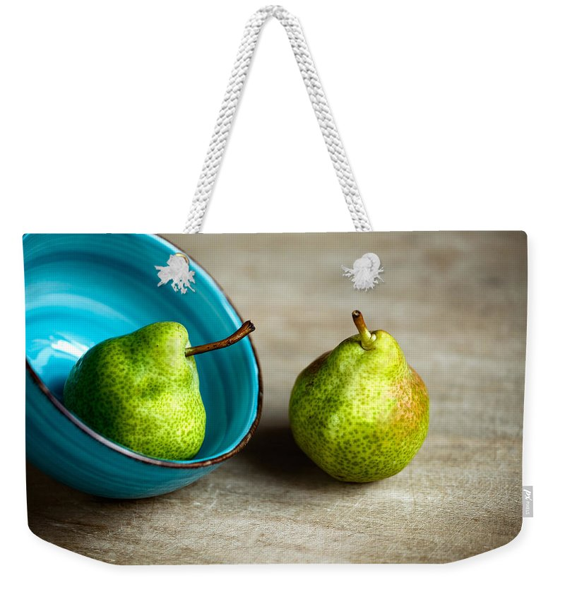 Pear Weekender Tote Bag featuring the photograph Pears 4 by Nailia Schwarz