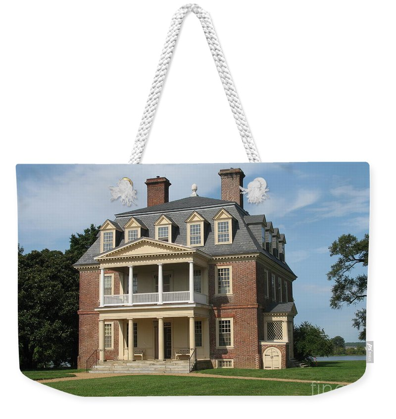 Plantation Weekender Tote Bag featuring the photograph Shirley Plantation by Christiane Schulze Art And Photography