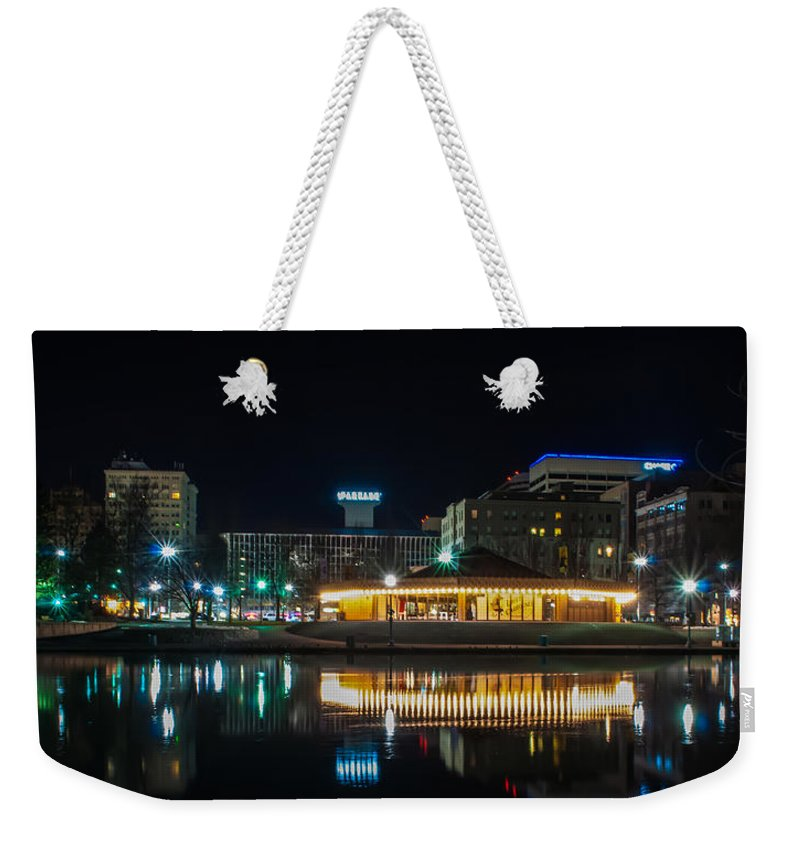 Architecture Weekender Tote Bag featuring the photograph Spokane Washingon Downtown Streets And Architecture by Alex Grichenko