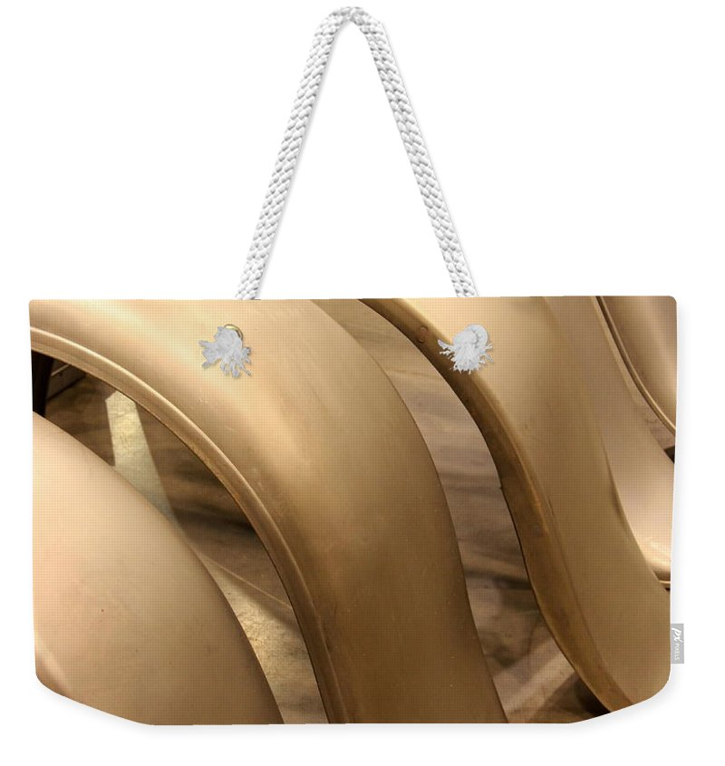 Street Cars Weekender Tote Bag featuring the photograph Street Cars Fenders by Catherine Balfe