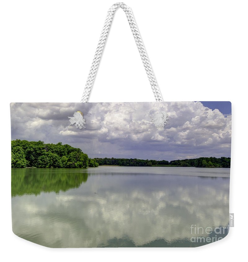 Backgrounds Weekender Tote Bag featuring the photograph 4-summer Time At Moraine View State Park by Alan Look