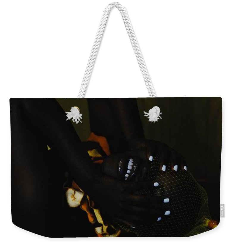Headwear Weekender Tote Bag featuring the photograph The Black Victorian by Stephanie Nnamani
