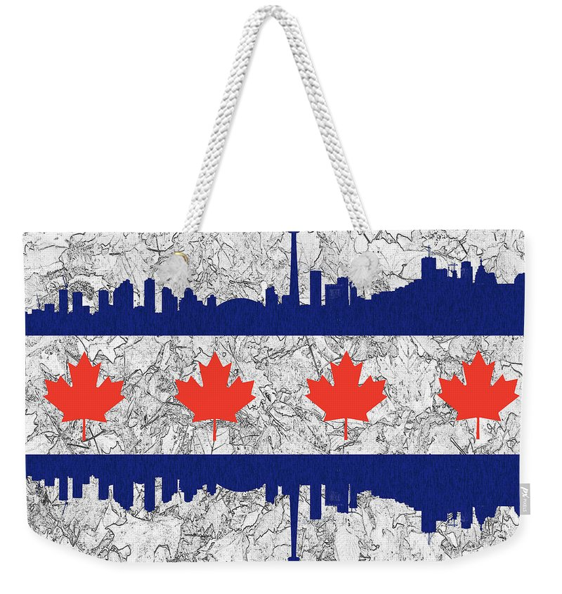 Toronto Weekender Tote Bag featuring the photograph Toronto Skyline by Les Palenik