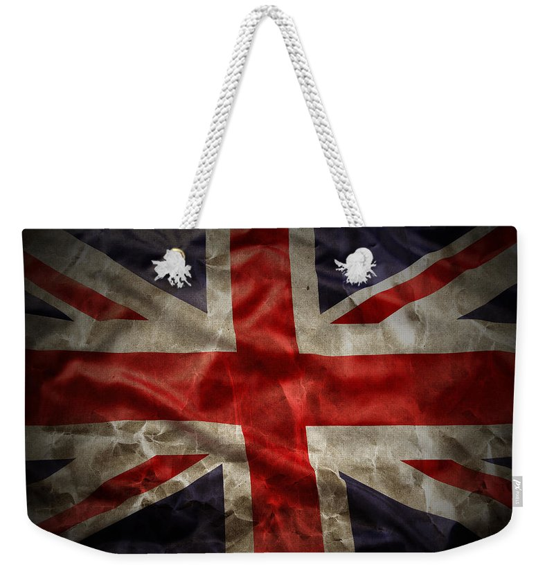 Old Weekender Tote Bag featuring the photograph Union Jack by Les Cunliffe