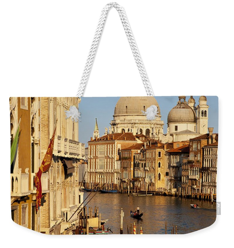 Santa Maria Weekender Tote Bag featuring the photograph Venice Grand Canal by Brian Jannsen