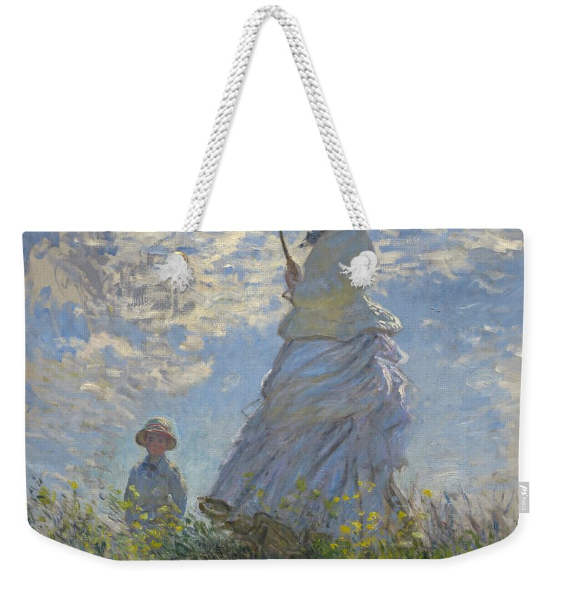 Art Weekender Tote Bag featuring the painting Woman With A Parasol by Mountain Dreams