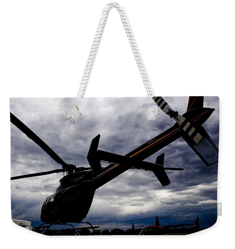 Bell 407 Weekender Tote Bag featuring the photograph 407 Clouds by Paul Job