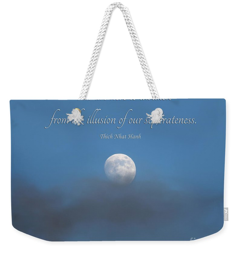 Weekender Tote Bag featuring the photograph 43- Thich Nhat Hanh by Joseph Keane