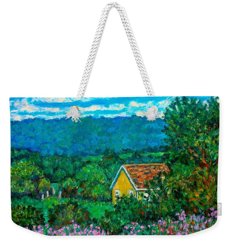 Landscape Weekender Tote Bag featuring the painting 460 by Kendall Kessler