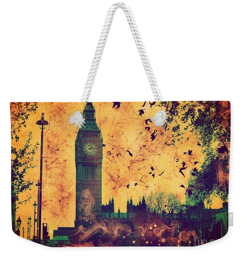 Big Ben Weekender Tote Bag featuring the digital art Big Ben by Marina McLain