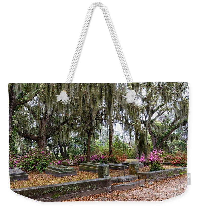 Angel Weekender Tote Bag featuring the photograph Bonaventure Cemetery Savannah Georgia by Dawna Moore Photography