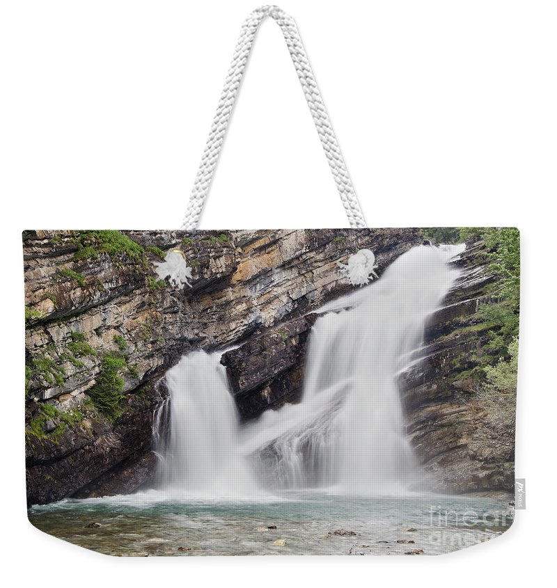 Cameron Falls Weekender Tote Bag featuring the photograph Cameron Falls by Dee Cresswell