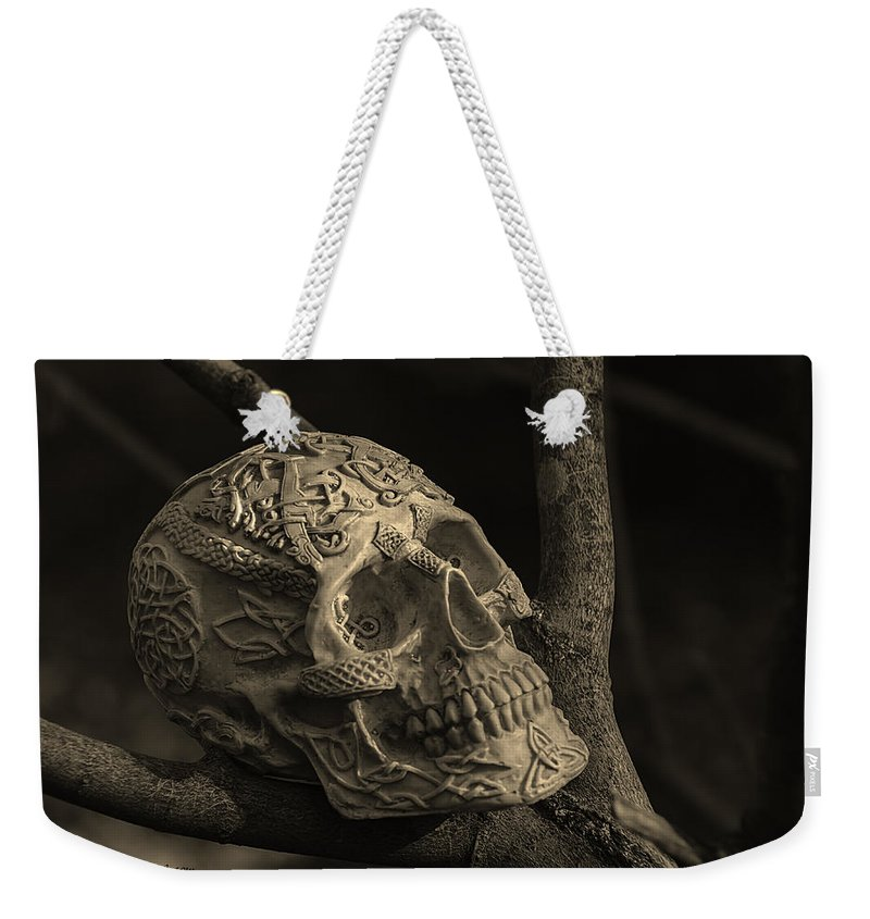 Usa Weekender Tote Bag featuring the photograph Celtic Skulls Symbolic Pathway To The Other World by LeeAnn McLaneGoetz McLaneGoetzStudioLLCcom