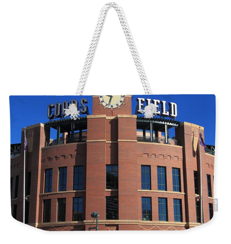 America Weekender Tote Bag featuring the photograph Coors Field - Colorado Rockies by Frank Romeo