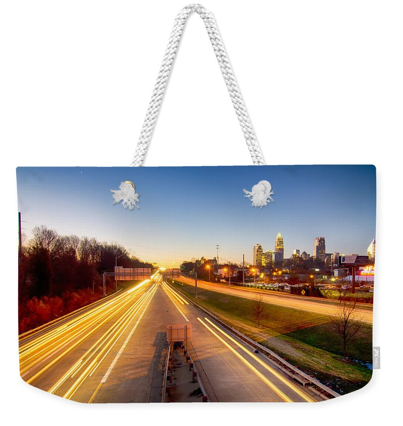 Early Weekender Tote Bag featuring the photograph Early Morning In Charlotte Nc by Alex Grichenko
