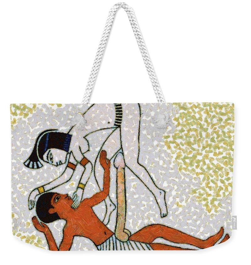 Erotic Art Of Ancient Egypt Weekender Tote Bag For Sale By Michal Boubin