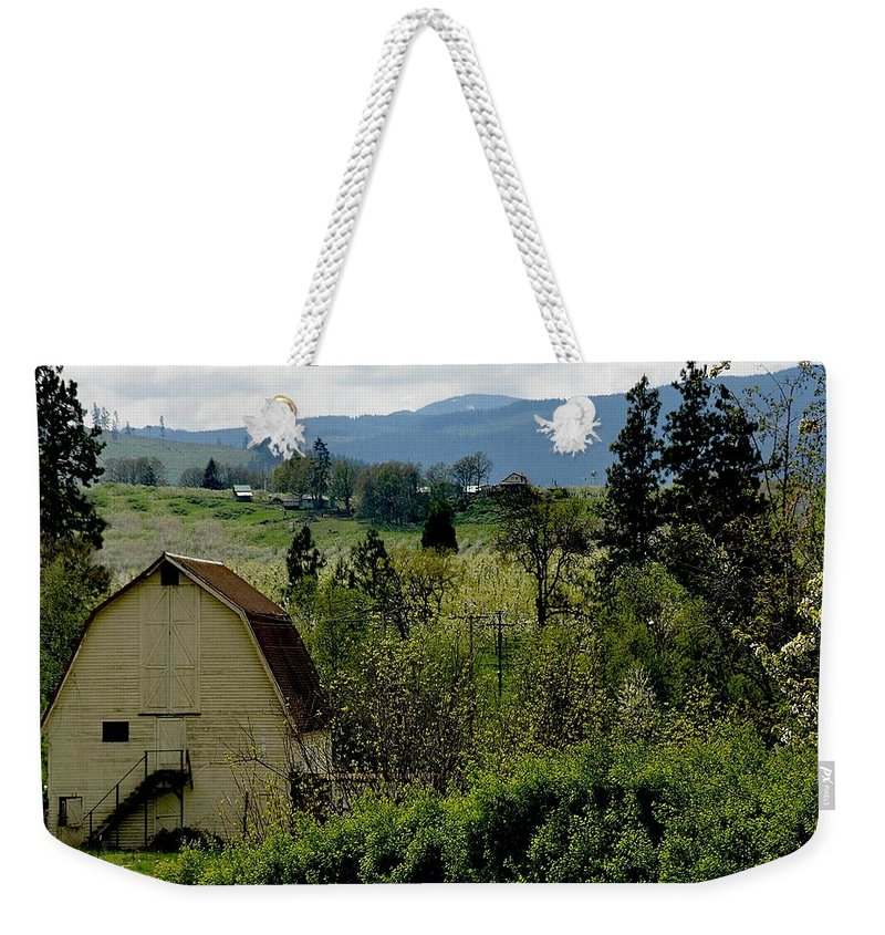 Barn Weekender Tote Bag featuring the photograph Hood River by Image Takers Photography LLC