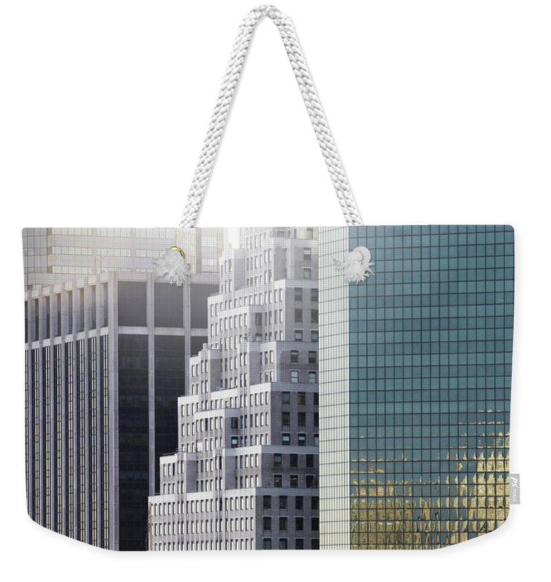 Tranquility Weekender Tote Bag featuring the photograph New York by Henrik Sorensen