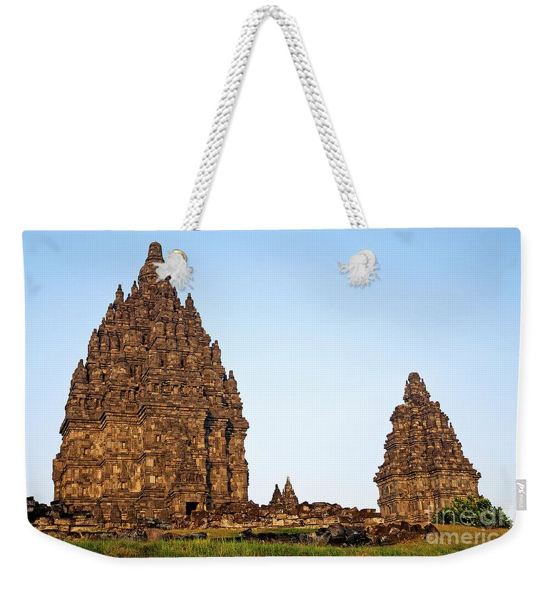 Prambanan Weekender Tote Bag featuring the photograph Prambanan Temple In Indonesia by Jacek Malipan