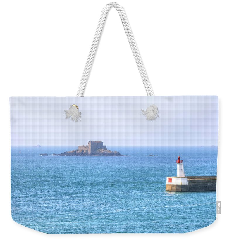 Port Entrance Weekender Tote Bag featuring the photograph Saint-malo - Brittany by Joana Kruse