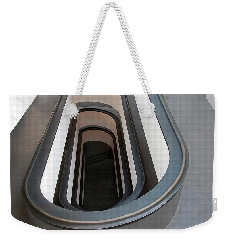 Italian Culture Weekender Tote Bag featuring the photograph Spiral Staircase At The Vatican by Mitch Diamond