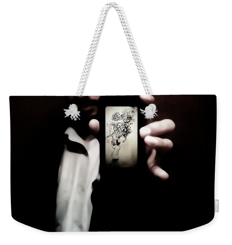 Black Weekender Tote Bag featuring the photograph 50 Shades Of Art by Jessica Shelton