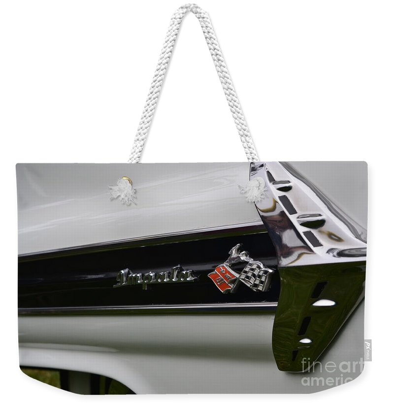 Impala Weekender Tote Bag featuring the photograph Chevy Impala by Dean Ferreira