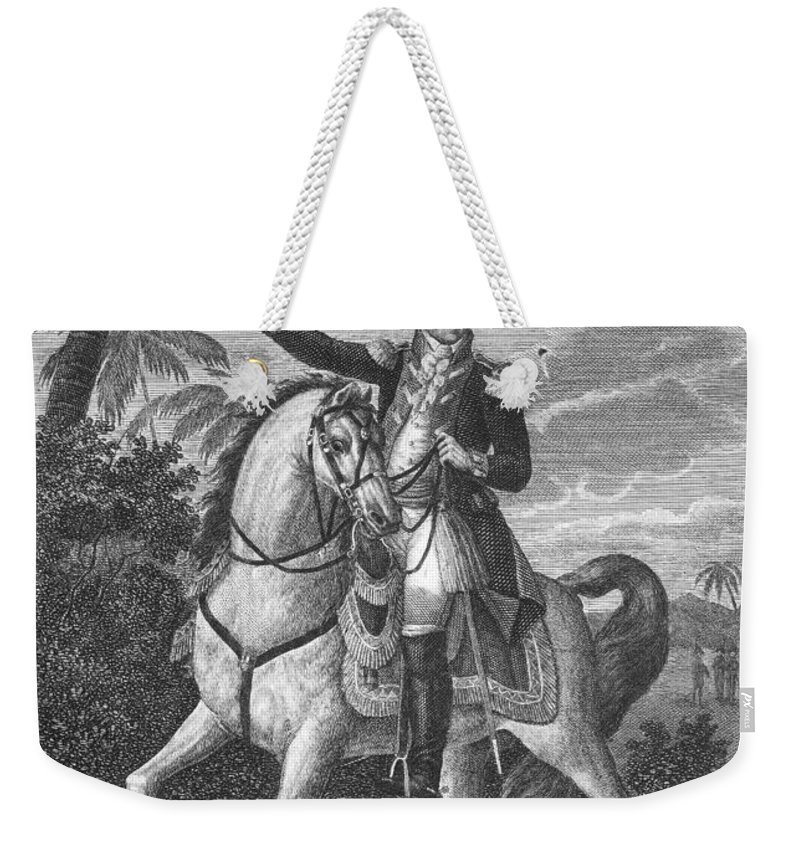 18th Century Weekender Tote Bag featuring the photograph George Washington by Granger