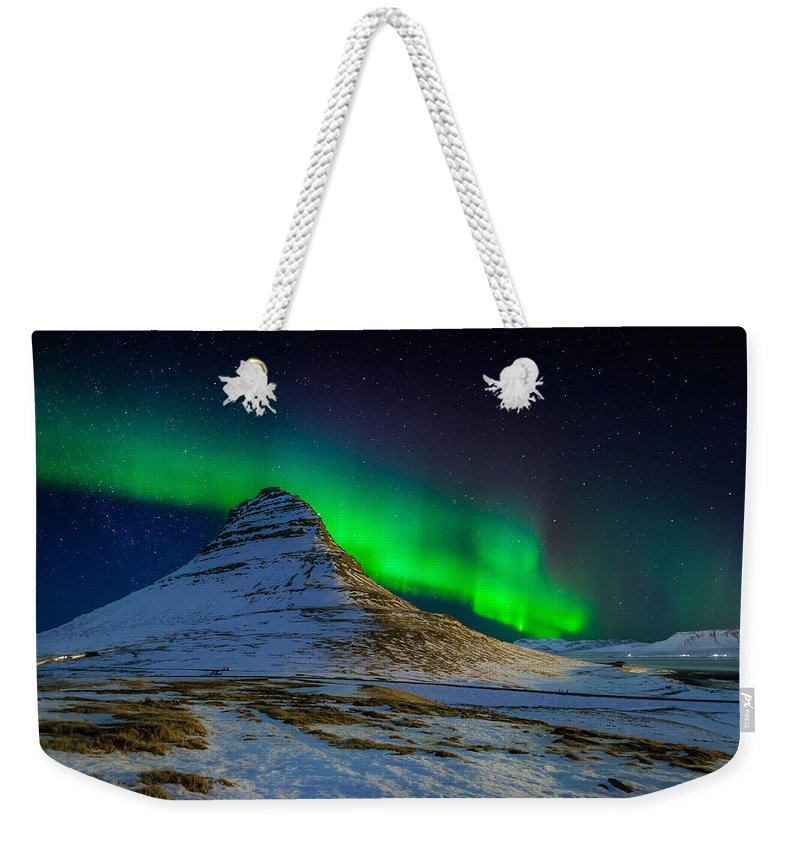 Photography Weekender Tote Bag featuring the photograph Aurora Borealis Or Northern Lights by Panoramic Images