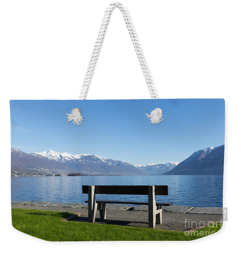 Bench Weekender Tote Bag featuring the photograph Bench by Mats Silvan