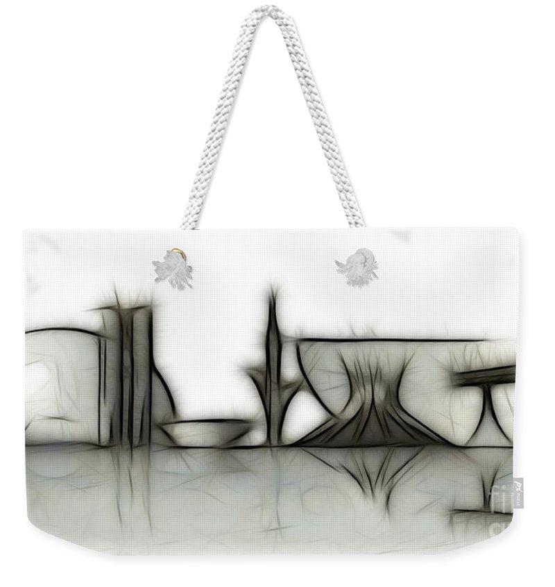 Brasil Weekender Tote Bag featuring the mixed media Brasilia Skyline by Michal Boubin