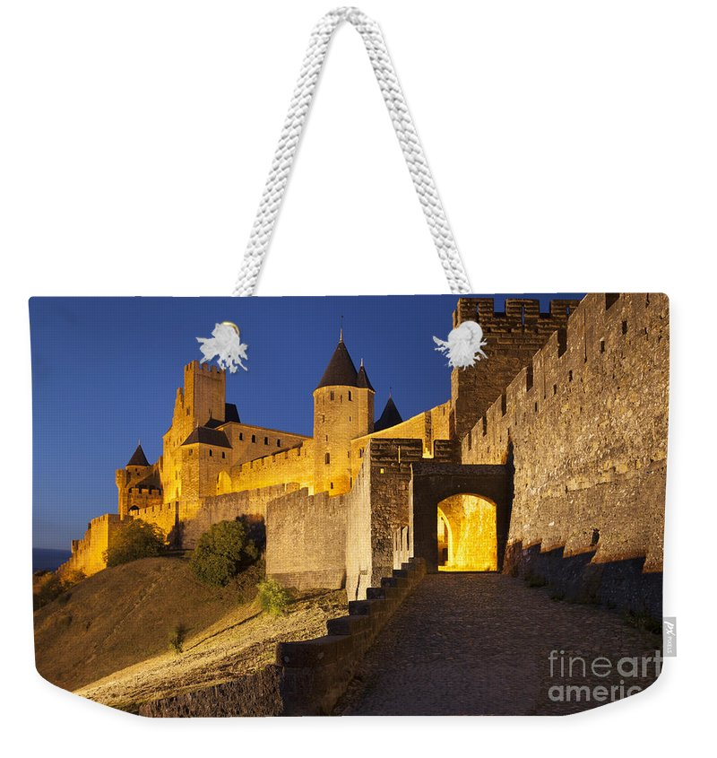 Architecture Weekender Tote Bag featuring the photograph Medieval Carcassonne by Brian Jannsen