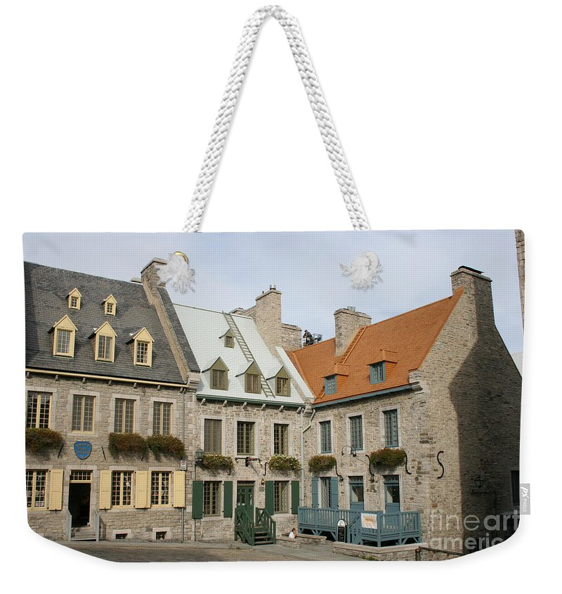 Old Town Weekender Tote Bag featuring the photograph Old Town Quebec - Canada by Christiane Schulze Art And Photography
