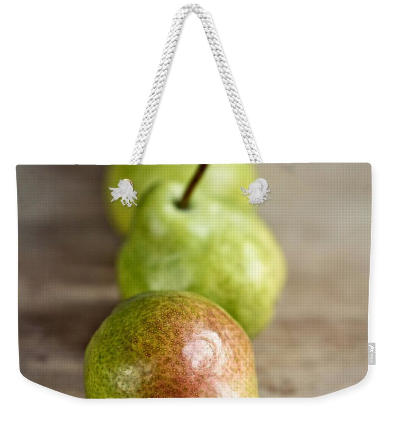 Pear Weekender Tote Bag featuring the photograph Pears 6 by Nailia Schwarz