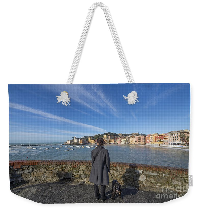 Village Weekender Tote Bag featuring the photograph Sestri Levante by Mats Silvan