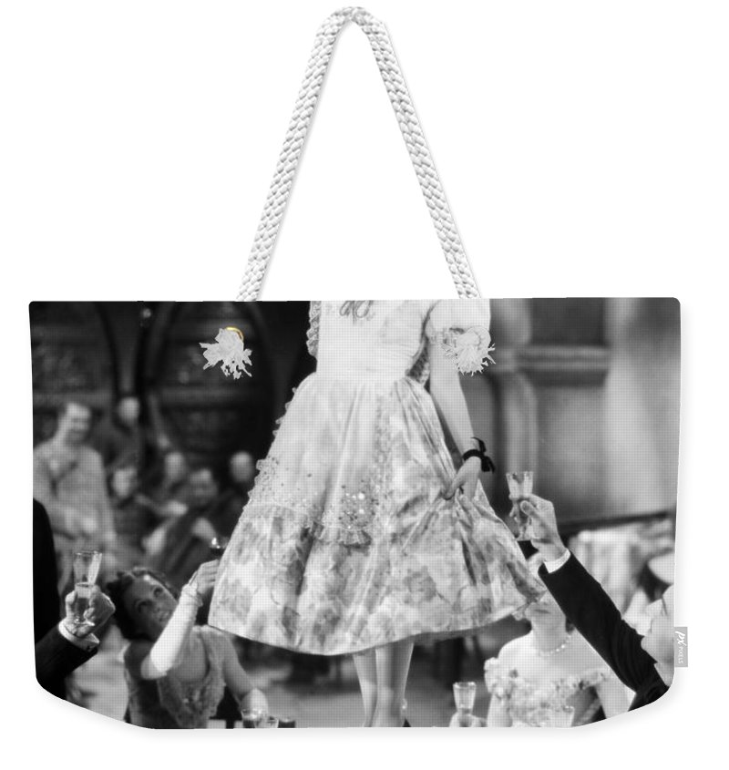 1930 Weekender Tote Bag featuring the photograph Silent Film Still: Drinking by Granger