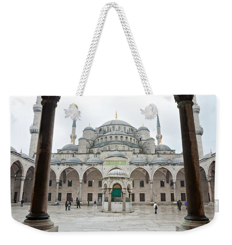 Arabic Weekender Tote Bag featuring the photograph The Blue Mosque - Istanbul by Luciano Mortula