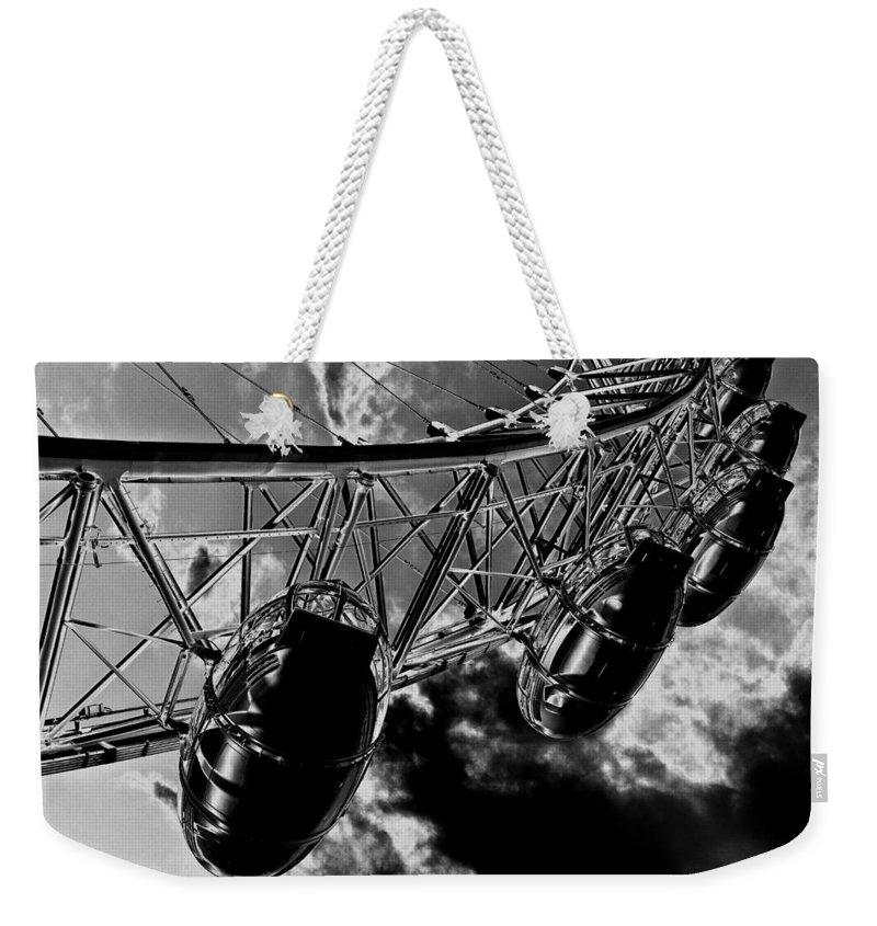 London Eye Weekender Tote Bag featuring the digital art The London Eye Art by David Pyatt