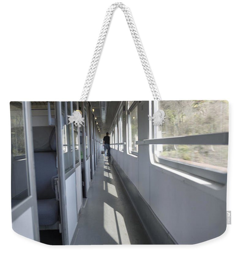 Train Weekender Tote Bag featuring the photograph Train Wagon by Mats Silvan