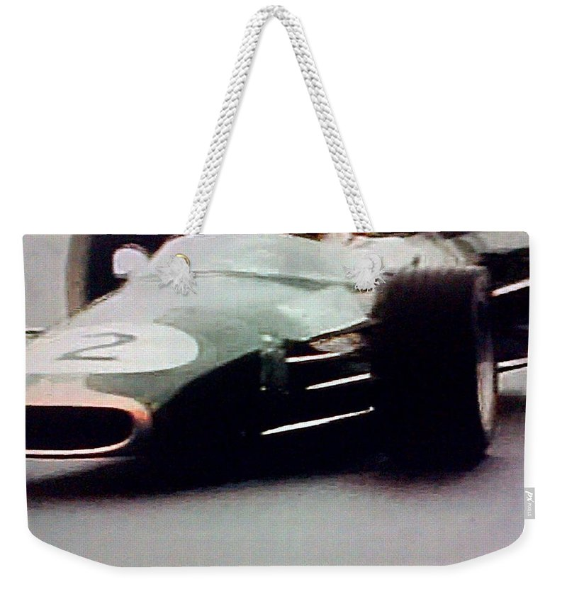 Formula 1 Racing Weekender Tote Bag featuring the photograph 60's Era Formula 1 Race by George Pedro
