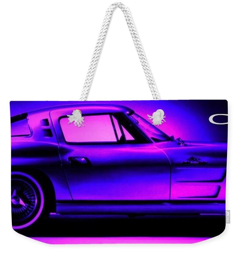 Weekender Tote Bag featuring the photograph 63 Corvette by George Pedro